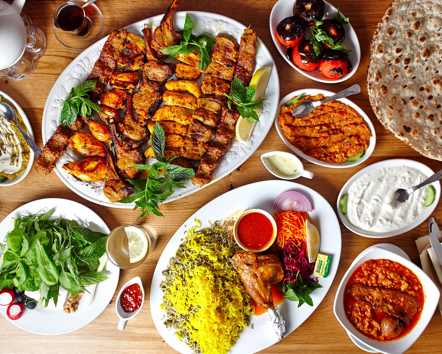 Iranian foods are delicious